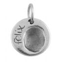 Circle Fingerprint Key Ring